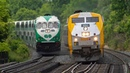 4K - GO and VIA Train Action on the Lakeshore West Oakville Subdivision