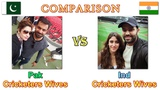 Indian Cricketers With Wives vs Pakistani Cricketer With Wives || Comparison of Cricketers and Wives