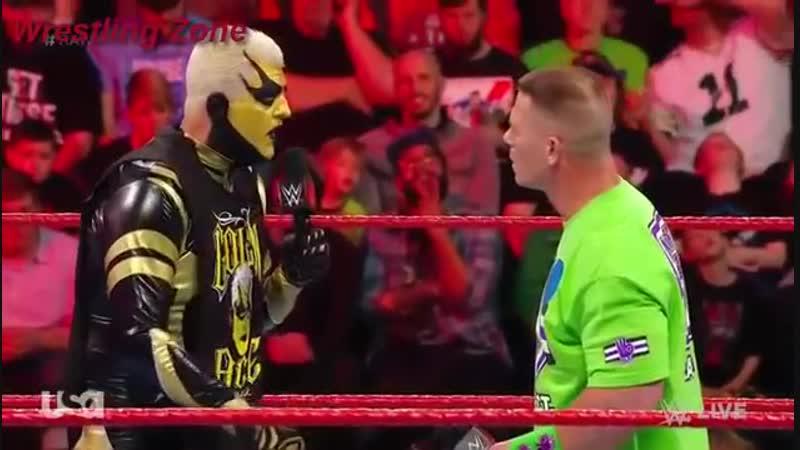 John Cena vs Goldust March 5,2018 WWE RAW
