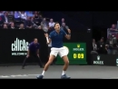 Djokovic and Federer Laver Cup