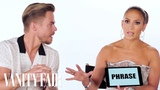 Jennifer Lopez Teaches You Dance Slang with Derek Hough and Ne-Yo Vanity Fair