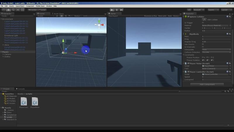 Создание сцены в Unity5 Шаг 2