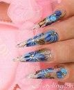 Фото 2. Рисунки на ногтях акриловыми красками.  Масляная техника нанесения акриловых красок на ногти.