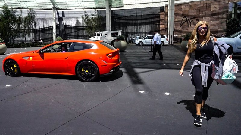 MY WIFE HATES UBER SO I RENTED A CHEAP VEGAS FERRARI! ONLY $450