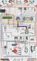 ЗАЗ-968М.  Схема электрооборудования электрическая принципиальная.
