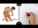 Proko Figure drawing fundamentals - 01 Gesture - Gesture Quicksketch - 2 Minute Pose (1)