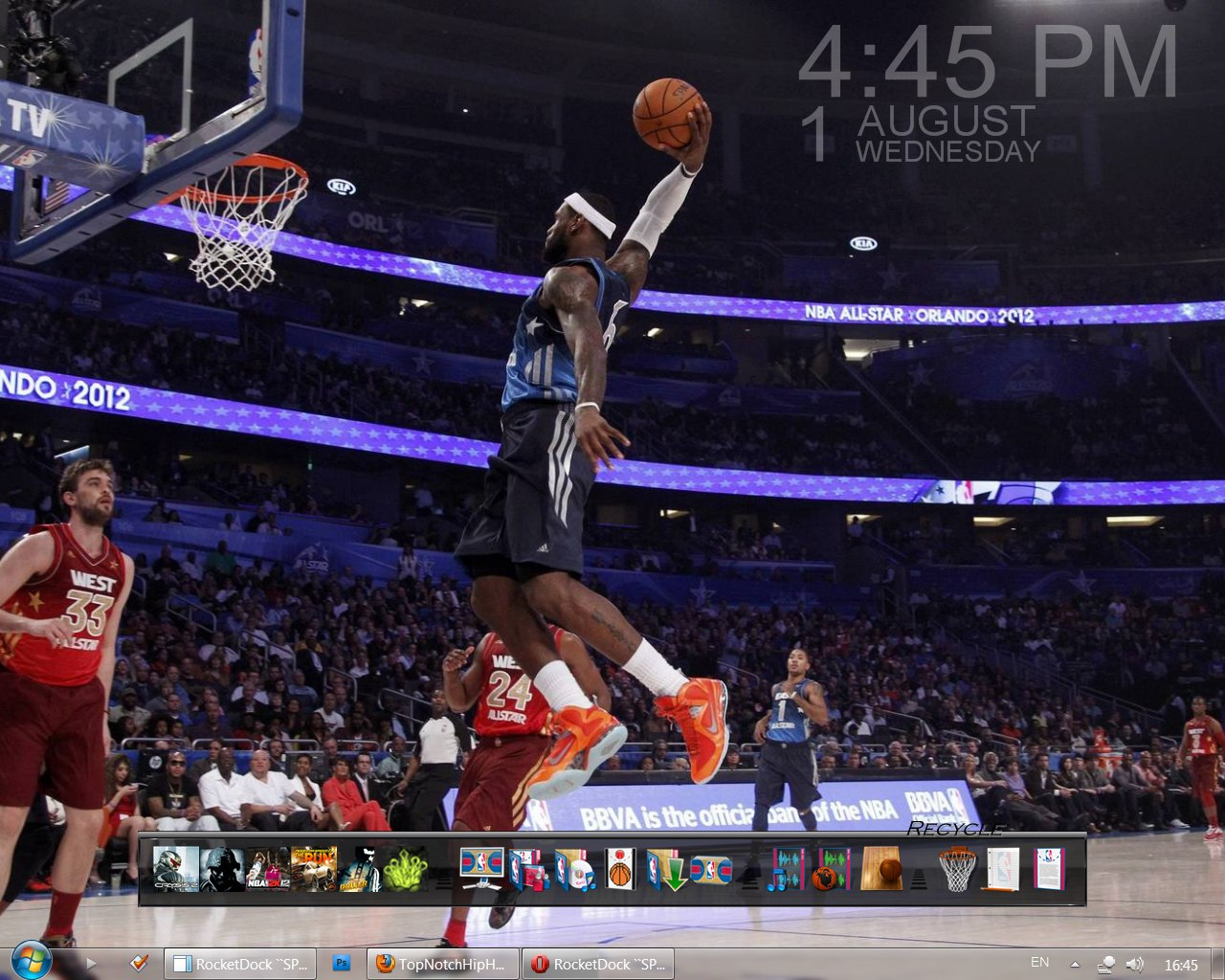 Ол Стар НБА 2012 на рабочий стол в HD