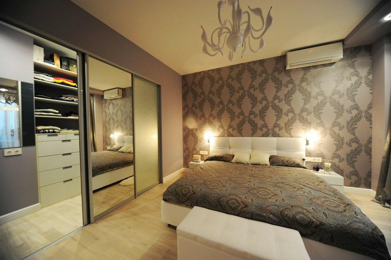 Красивые спальни с гардеробной фото