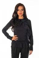 Черная нарядная блузка Satin купить - Черная нарядная блузка Satin заказать через интеренет - Черная нарядная блузка...