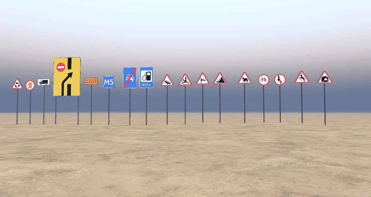 304 дорожных знака для Редактора карт для Spintires - Скриншот 3