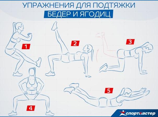 Комплекс упражнений для ягодиц для девушек в домашних условиях