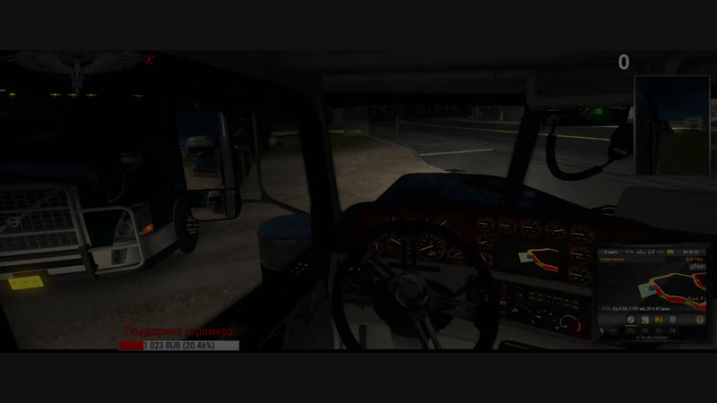 American Truck Simulator [Steam версия [FullHD 2560x1080|PC] ATS Проверка настроек OBS Mod звуков