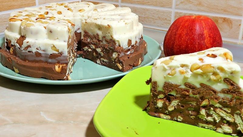 Птичье молоко с начинкой за 15 минут.Торт без выпечки. желейный торт Птичье молоко.
