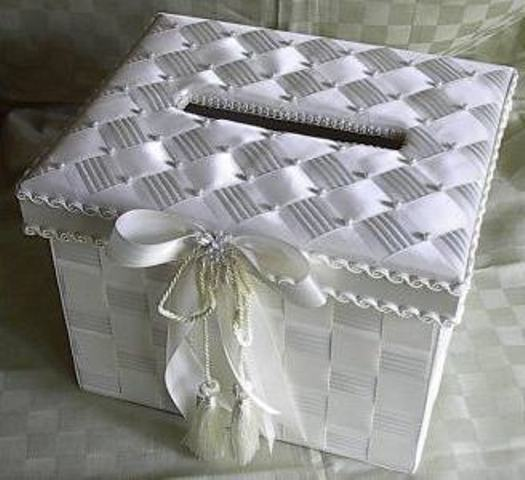 Как сделать банк на свадьбу из обычной коробки