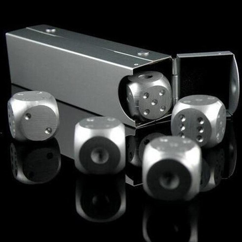 Алюминиевые кости кубики 5 штук для разных настольных игр покер домино и других 238