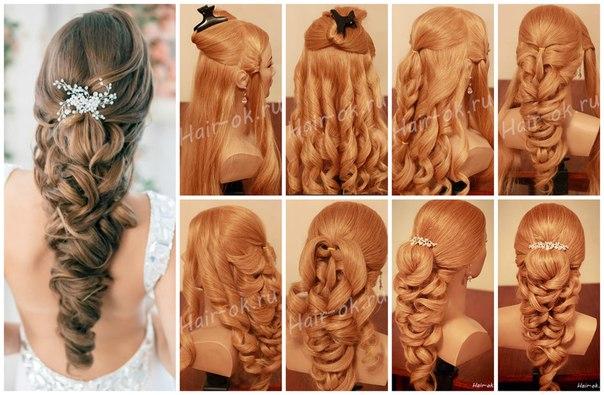 Свадебные прически пошагово на средние волосы