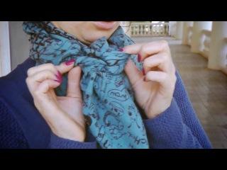 Как можно красиво и правильно завязать длинный шарф на ш...