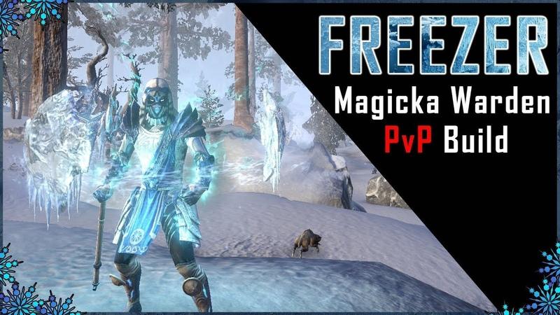 Magicka Warden Build PvP Freezer - Murkmire DLC