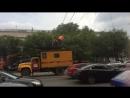Сегодня стояли трамваи