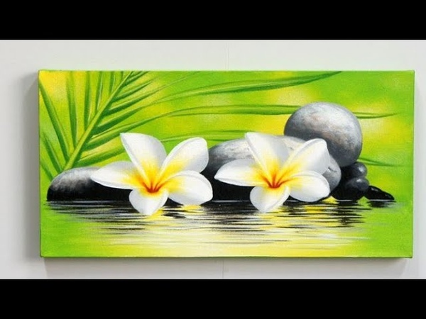 Step by step acrylic painting on canvas for beginners || Nature scenery painting || easy panting
