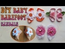 How to Make Baby Barefoot Sandals DIY Pretty Cute Sandals for Baby