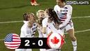 USA vs Canada 2 - 0 All Goals Highlights | CWC Final | October 17, 2018
