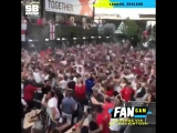Looks like a lot of England fans needed another beer after that Trippier goal!
