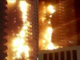 В Эмиратах горят огромные жилые дома