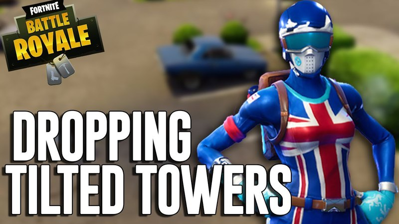 Dropping in at Tilted Towers - Fortnite Battle Royale Gameplay - Ninja