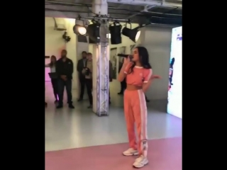 Charlotte Lawrence performing