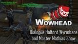 Dialogue Halford Wyrmbane and Master Mathias Shaw