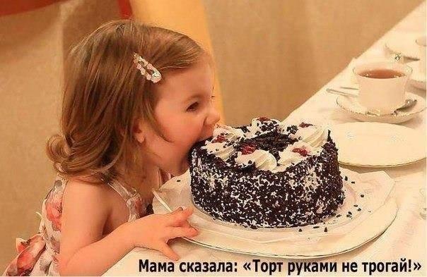 """мама сказала : """"торт руками не трогать !"""""""