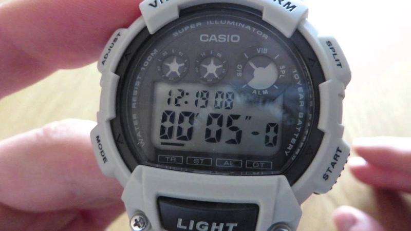 CASIO W-735H-8A2 | VIBRATION ALARM | LIGHT | GREYBLACK - SZARYCZARNY (no comment)