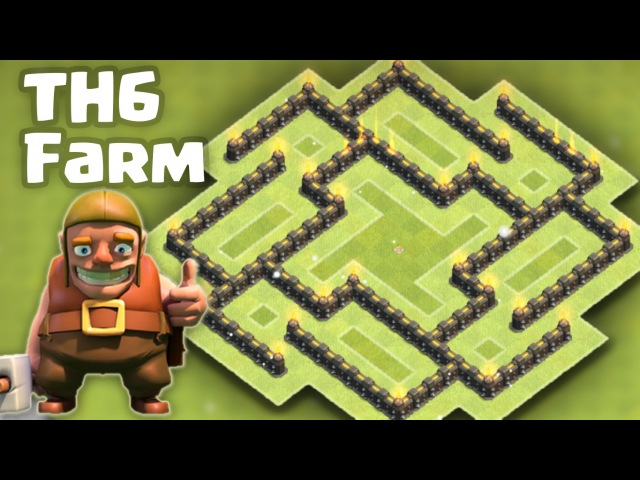 Town hall 6 (TH6) Farming Base - Protect both Resources/Town Hall
