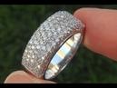 Estate Natural VS Diamond Cocktail Cluster 18k White Gold Designer Ring A346