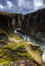 Фьядрарглйуфур - один из самых красивых каньонов в Исландии