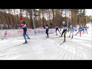 Лучшие моменты. Чемпионат России по лыжным гонкам. Командный спринт. Свободный стиль. 27 марта