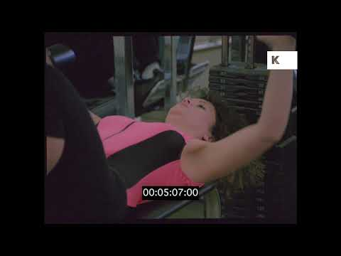 1980s Women Working Out in the Gym, HD