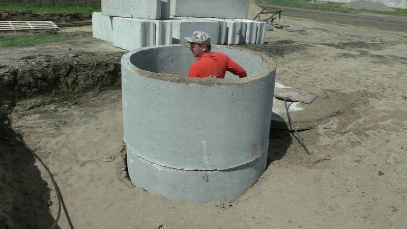 Погреб из бетонных колец 1 5м своими руками Часть1