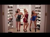 Рози Хантингтон-Уайтли, Джоан Смоллс и Лили Олдридж для осенне-зимней рекламной кампании бренда «Jimmy Choo».