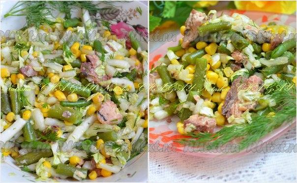 рецепты вкусных салатов с консервой с фото