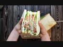 Супер-мега сэндвич с беконом и сырным соусом