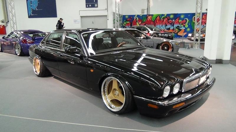 Jaguar XJ6 X300 black low @ Essen Motorshow 2018