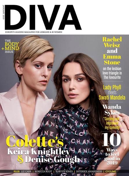 EIRA NIGHTLEY and DENISE GOUGH Diva Magazine, U 01/2019