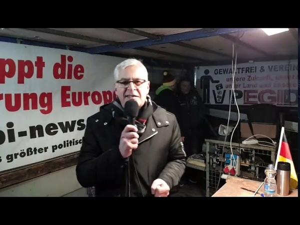 11.02.2019 PEGIDA live vom Wiener Platz Teil 1 von 2