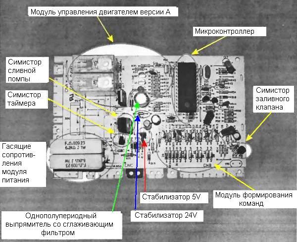 Ремонт электронных модулей стиральных машин своими руками