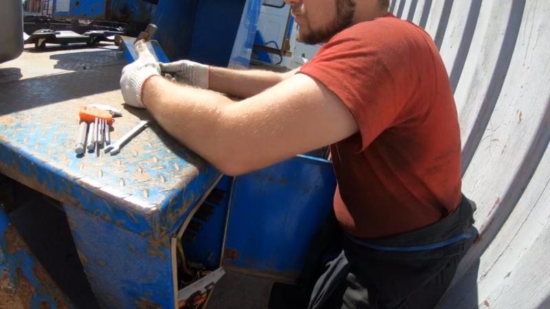 Автовышка АГП ВИПО-20-01. Диагностика закончилась, будем приступать к ремонту