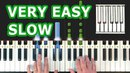 Harry Potter Theme - VERY EASY PIANO TUTORIAL SLOW (Hedwig's Theme) - How To Play (Synthesia)