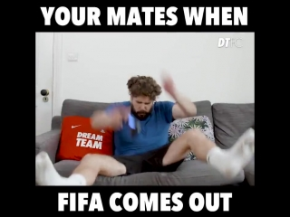 Every single FIFA player right now 😂