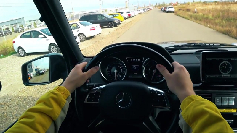 ГЕЛИК G63 - РАЗГОН 0-100 ЛАУНЧ _ Mercedes Benz G63 AMG POV Acceleration launch _